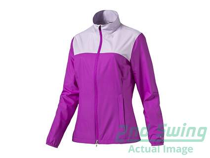 New Womens Puma Golf Jacket Small S Purple Cactus Flower MSRP $70