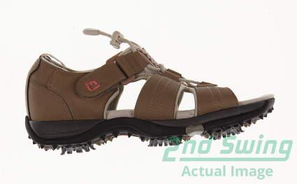 New W/O Box Womens Golf Shoe Footjoy Greenjoys Sandals Medium 5 Brown MSRP $90