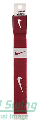 New Mens Nike Golf Web Belt Red One Size Fits Most