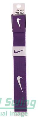 New Mens Nike Golf Web Belt Purple One Size Fits Most