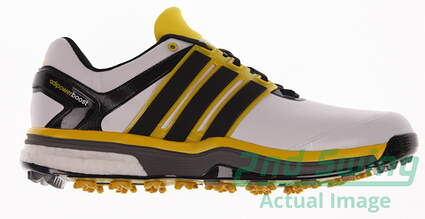 New Mens Golf Shoes Adidas Adipower Boost Medium 10 White/Yellow Q44613 MSRP $230