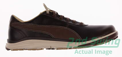 New Mens Golf Shoes Puma BioDrive Leather Medium 9.5 Bison Brown/White Swan 188202-02 MSRP $120