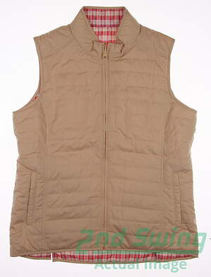 New Womens Peter Millar Golf Reversible Vest Large L Multi MSRP $140