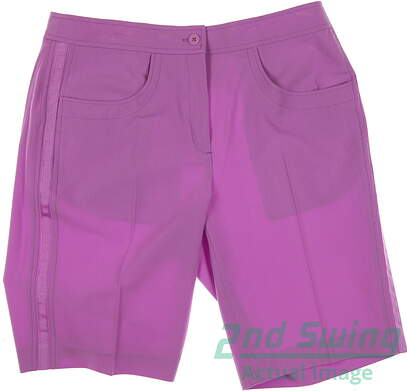 New Womens EP Pro Golf Shorts Size 6 Purple MSRP $70