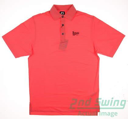 New W/ Logo Mens Footjoy Golf Polo Small S Orange MSRP $70