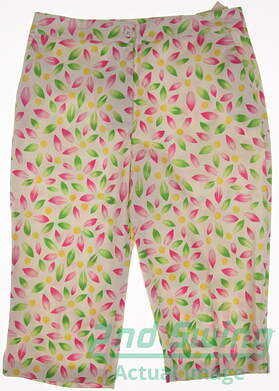 New Womens EP Pro Golf Capris Size 8 Multi MSRP $80