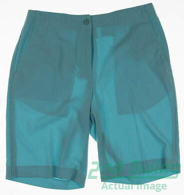 New Womens EP Pro Golf Shorts Size 2 Blue MSRP $78