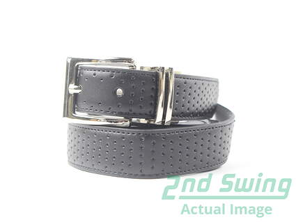 New Womens Nike Black All Leather Belt Golf Accessory