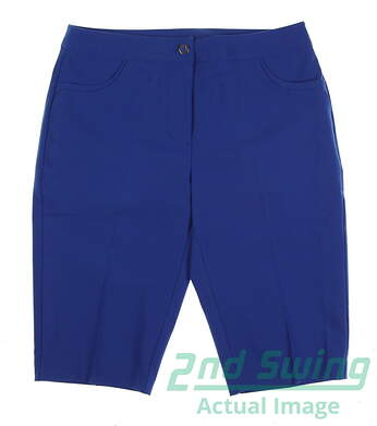 New Womens EP Pro Golf Shorts Size 2 Blue MSRP $75