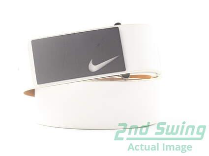 New Mens Nike Golf Sleek Modern Plaque Mens Belt 36 Leather MSRP $50