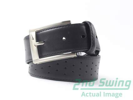 New Mens Black Nike Tiger Woods Collection Golf Belt Size 36 Leather
