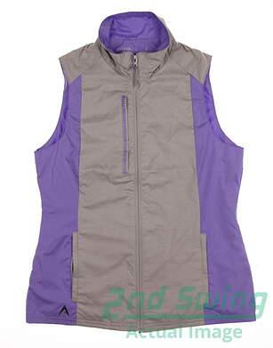 New Womens Antigua Golf Vest Small S Multi MSRP $50