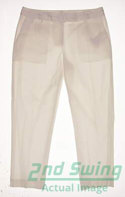 New Womens Fairway & Greene Golf Pants Size 10 White MSRP $50