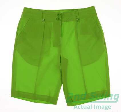 New Womens EP Pro Golf Shorts Size 8 Green MSRP $50