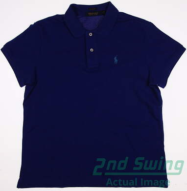 New Womens Ralph Lauren Golf Polo Large L Blue MSRP $89