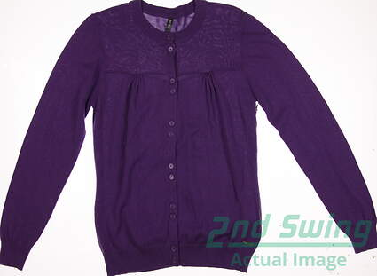 New Womens Lija Golf Sweater Large L Purple MSRP $60