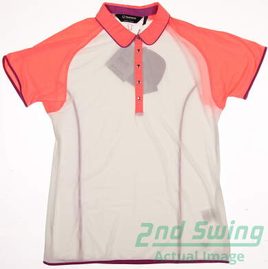 New Womens SUNICE Golf Polo Large L Multi MSRP $40