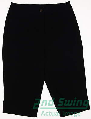 New Womens EP Pro Golf Capris Size 8 Navy Blue MSRP $80