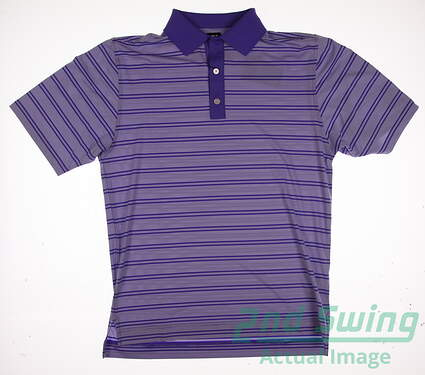 New W/ Logo Mens Footjoy Golf Polo Small S Purple MSRP $83
