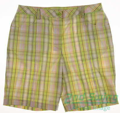 New Womens EP Pro Golf Shorts Size 14 Multi MSRP $50