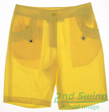 New Womens EP Pro Golf Shorts Size 4 Yellow MSRP $50