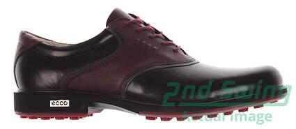 New Mens Golf Shoe Ecco Tour Hybrid 9.5 Black MSRP $280