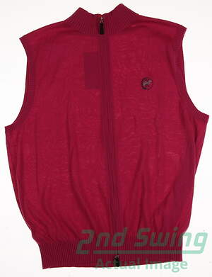 New W/ Logo Mens Fennec Golf Vest Medium M Pink MSRP $175