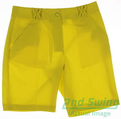 New Womens EP Pro Golf Shorts Size 8 Yellow MSRP $70