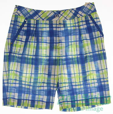 New Womens EP Pro Golf Shorts Size 10 Multi MSRP $70