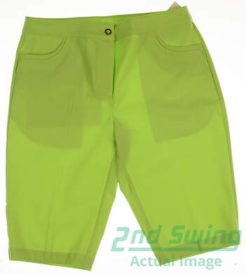 New Womens EP Pro Golf Shorts Size 10 Green MSRP $70
