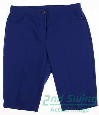 New Womens EP Pro Golf Shorts Size 10 Blue MSRP $70