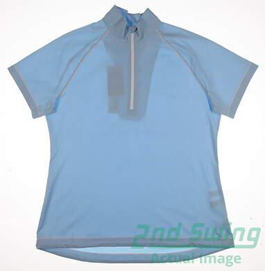 New Womens Cutter & Buck Golf Short Sleeve Wind Jacket X-Large XL Blue MSRP $75