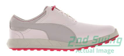 New Womens Golf Shoe Puma Ignite Spikeless 7 White/Grey MSRP $110