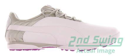 New Womens Golf Shoe Puma SunnyLite V2 Spikeless 9 White / Gray Violet / Purple Cactus Flower MSRP $80 188668 04