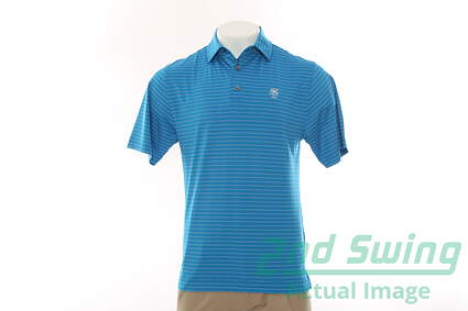 New W/ Logo Mens Footjoy All Polo Small S Blue MSRP $70