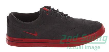 New Mens Golf Shoes Nike Lunar Swingtip Suede Medium 9 Gray 533094-003 MSRP $140