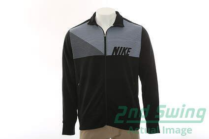 New Mens Nike All Full Zip Mock Neck X-Large XL Black MSRP $85