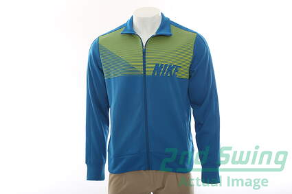 New Mens Nike All Full Zip Mock Neck X-Large XL Blue MSRP $85