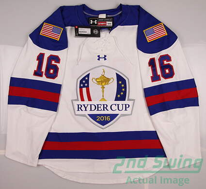 New Mens Under Armour 2016 Ryder Cup Hockey Jersey Small S White MSRP $265