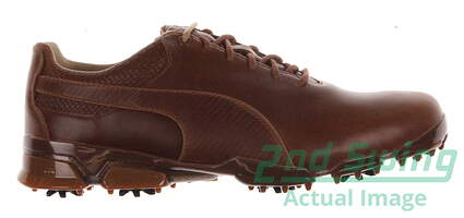 New Mens Golf Shoe Puma TitanTour Ingite Premium 10.5 Monk's Robe/Team Gold MSRP $190 188654
