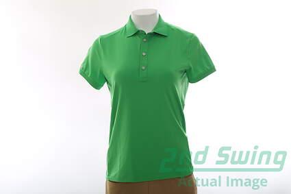 New Womens Ralph Lauren RLX Golf Polo Medium M Green MSRP $89.50