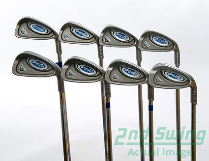 Ping i5 Iron Set 3-PW Ping AWT Steel Stiff Right Handed Blue Dot 37.75 in