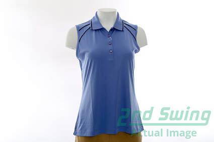 New Womens Greg Norman Golf Sleeveless Polo Medium M Purple MSRP $69