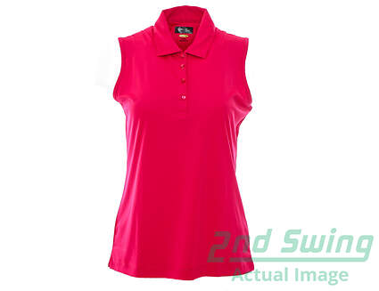 New Womens Greg Norman Golf Sleeveless Polo Medium M Pink MSRP $65
