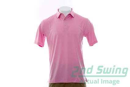 New Mens Peter Millar Golf Polo Medium M Pink MSRP $79