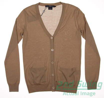 New Womens Ralph Lauren Button Up Cardigan Small S Tan MSRP $275 0162688