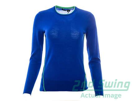 New Womens Ralph Lauren Logan Sweater Small S Blue MSRP $185