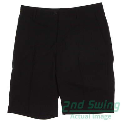 New Mens Adidas Climalite 3-Stripes Tech Shorts Size 30 Black MSRP $60 Z25257