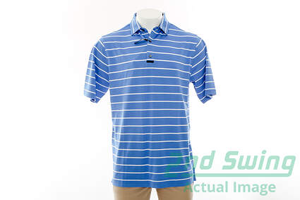 New Mens Footjoy Golf Engineered Back Stripe Polo X-Large XL Blue MSRP $75 20870