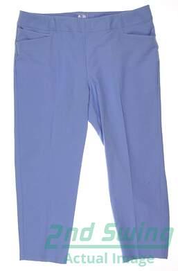 New Womens Adidas Golf Essentials adiSlim Ankle Pant Size X-Large XL Blue MSRP $80